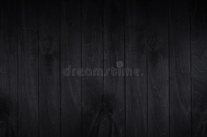 Noir elegance black wooden board background. Wood texture. stock photos