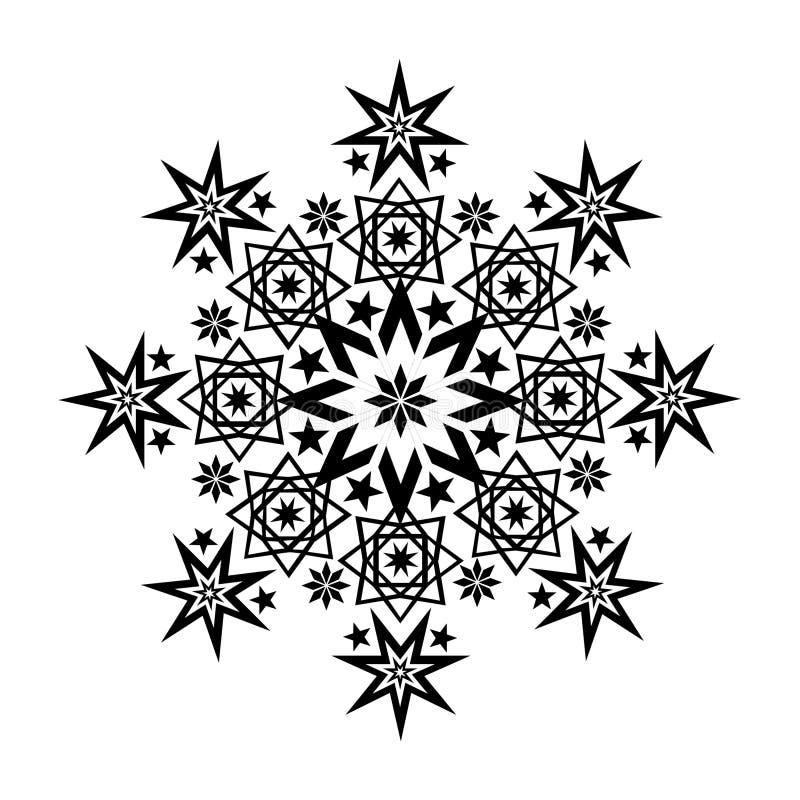 Noir en filigrane 4 d'étoile illustration libre de droits