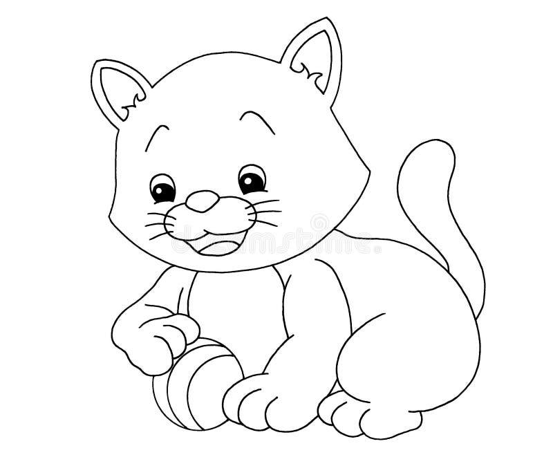 Noir et blanc - chat illustration de vecteur