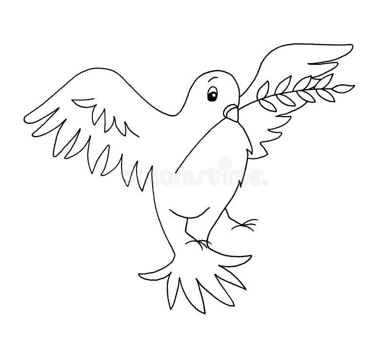 Noir et blanc - colombe illustration de vecteur