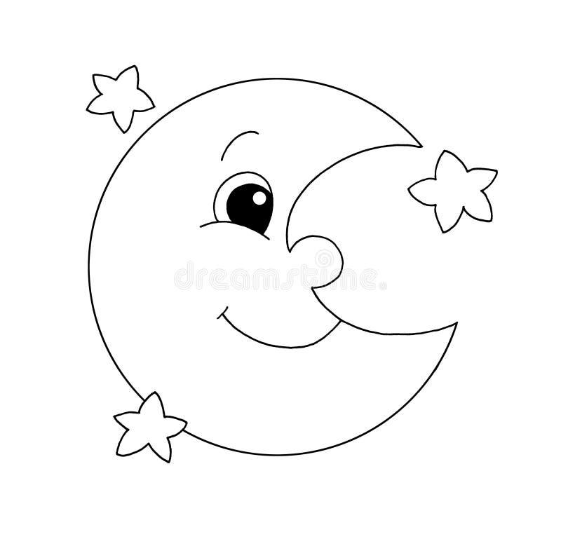 Noir et blanc - lune illustration stock