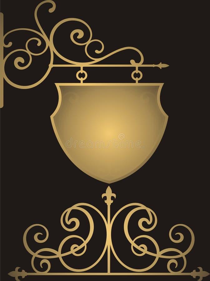 Noir et d'or illustration de vecteur