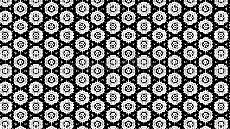 Noir et illustration élégante de calibre de Grey Floral Geometric Pattern Background belle illustration libre de droits