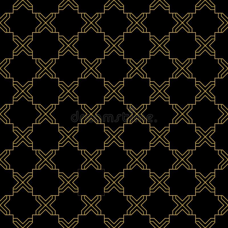 Noir et mod?le sans couture d'or illustration stock