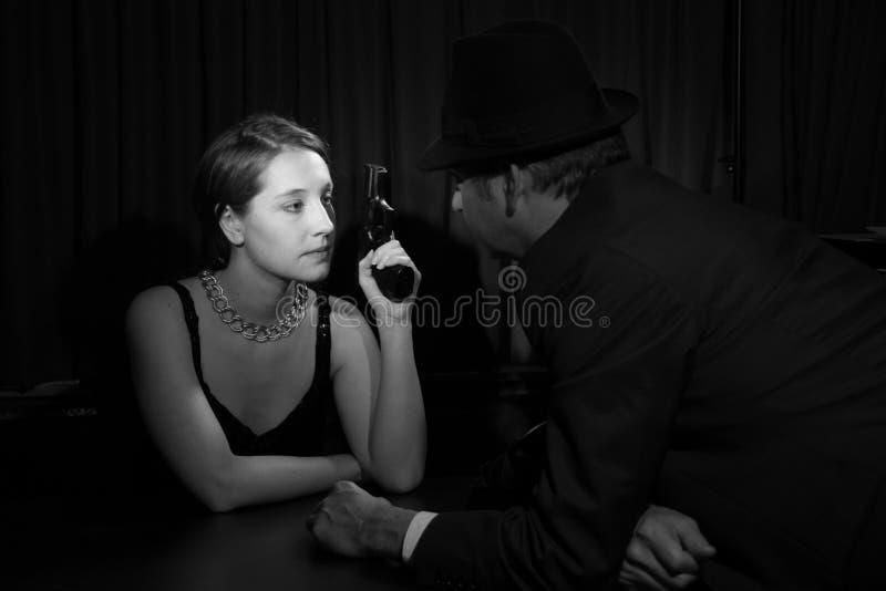 Noir film royaltyfria bilder