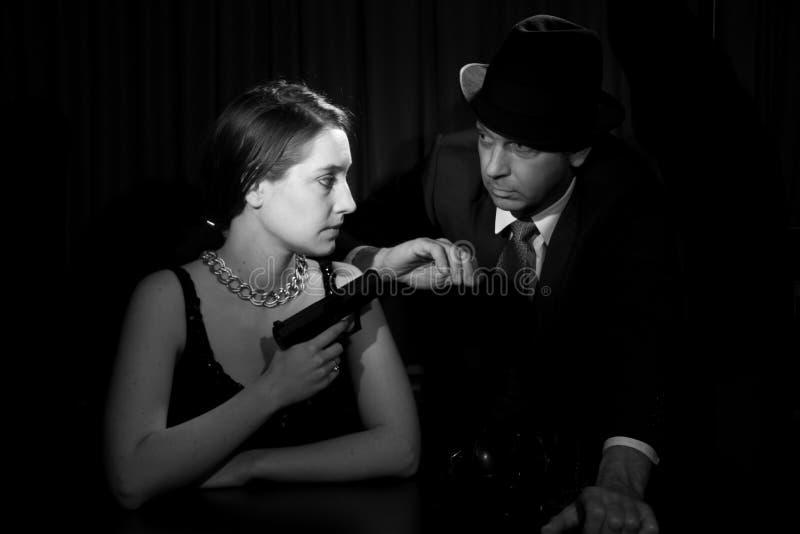 Noir film royaltyfri fotografi