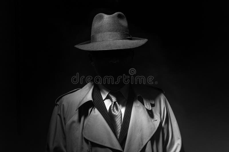 Noir filmu charakter fotografia royalty free