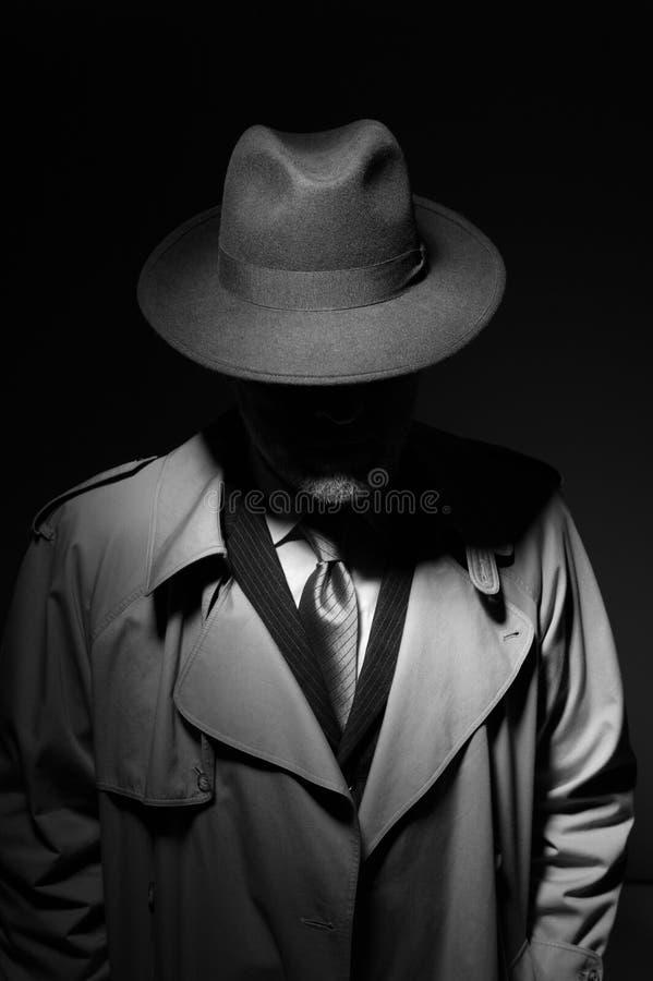 Noir filmu charakter fotografia stock