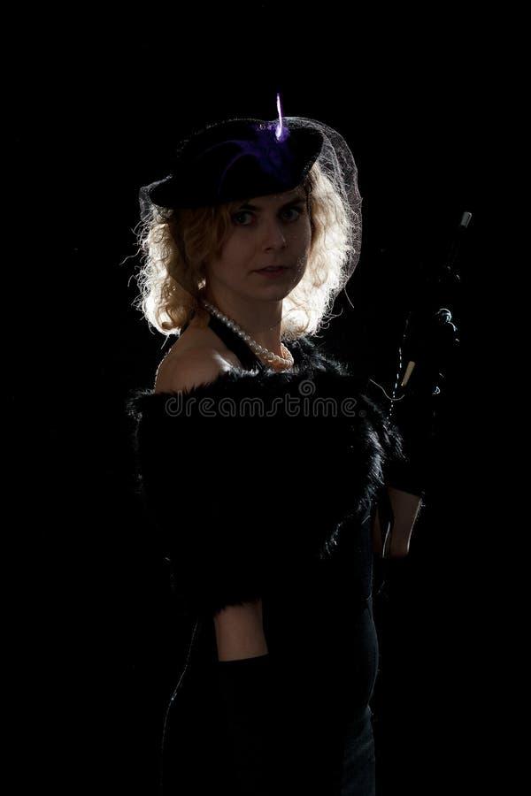 Noir flickapanelljus för film arkivfoton