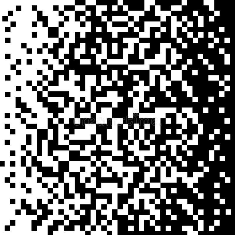 Noir géométrique abstrait de pixels de fond au blanc Vecteur illustration libre de droits