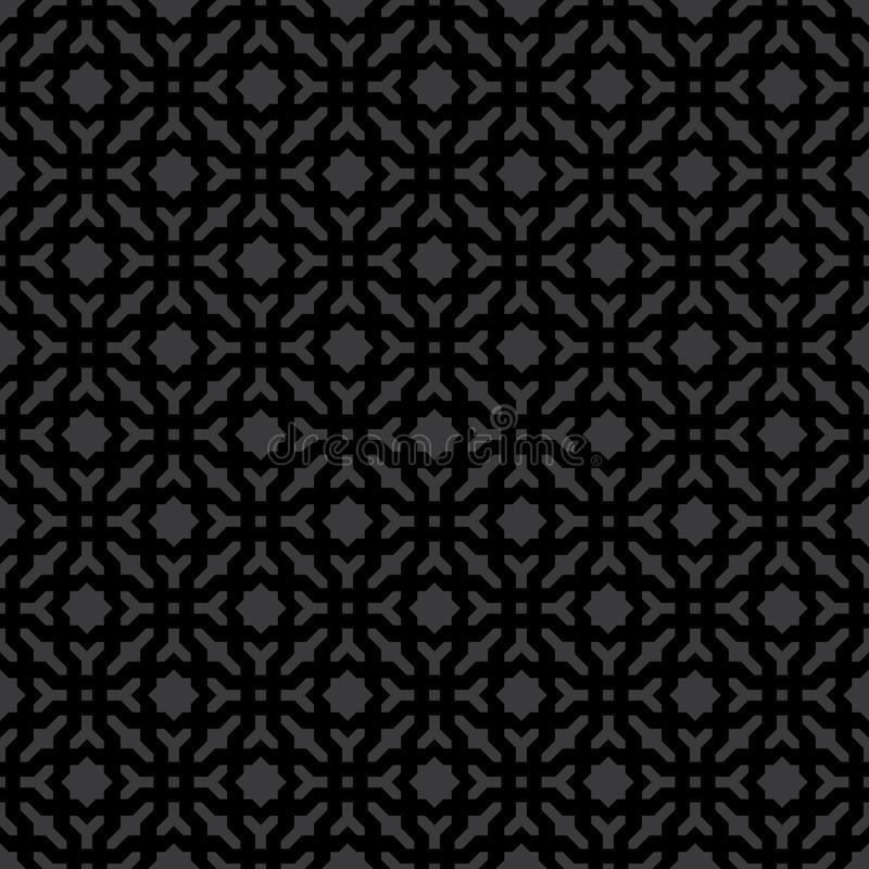 Noir géométrique décoratif sans couture abstrait et Gray Pattern Background illustration de vecteur
