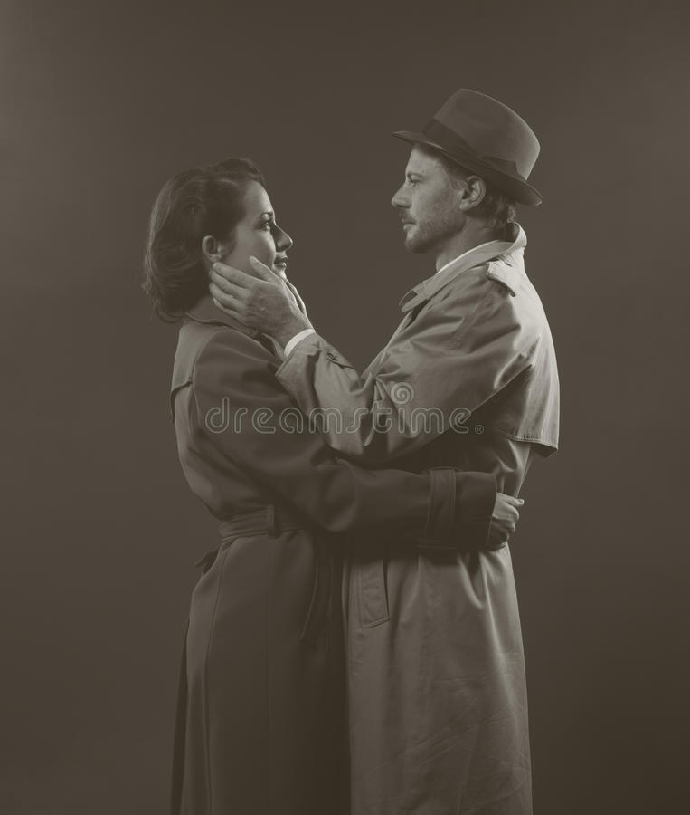 Noir romantisk plats för film arkivbild