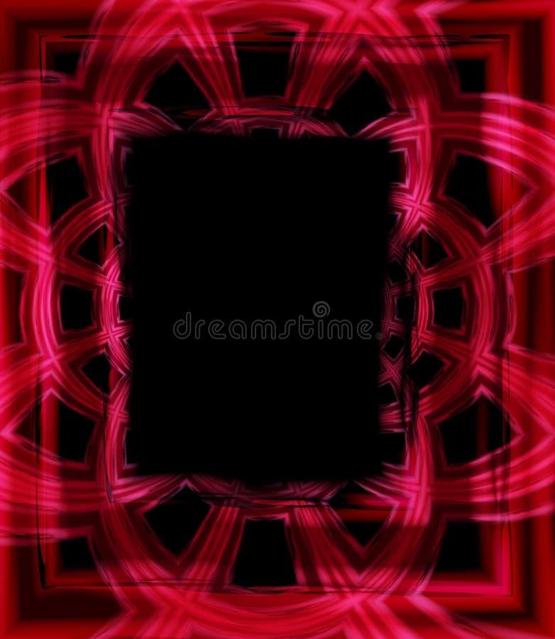 Noir rouge de cadre de tableau de photo illustration de vecteur