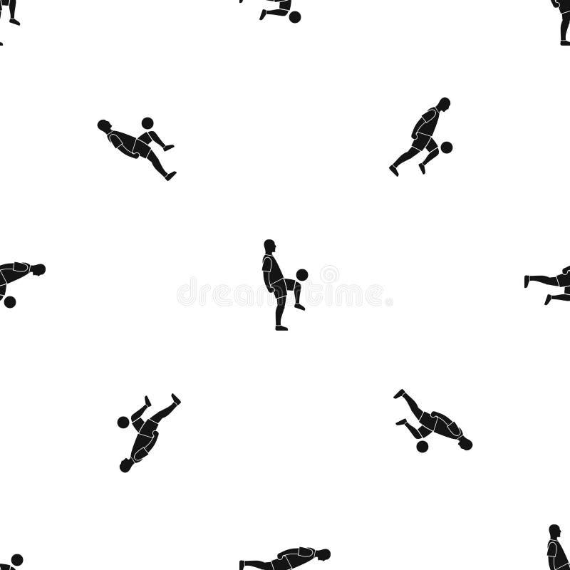 Noir sans couture de modèle d'homme de footballeur illustration de vecteur