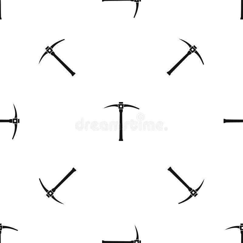 Noir sans couture de modèle de sélection illustration de vecteur