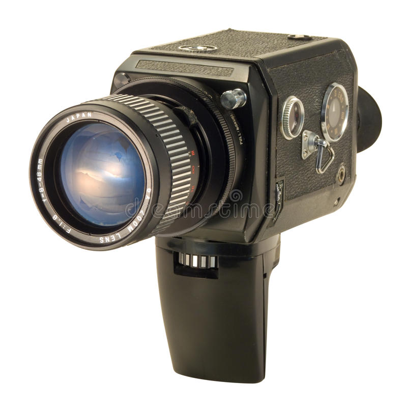 Noir superbe d'appareil-photo de 8 films images stock