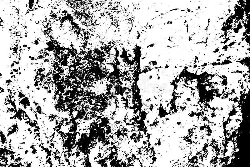 Noir sur la texture superficielle par les agents blanche L'écorce d'arbre âgée stratched la surface Recouvrement affligé pour l'e illustration libre de droits