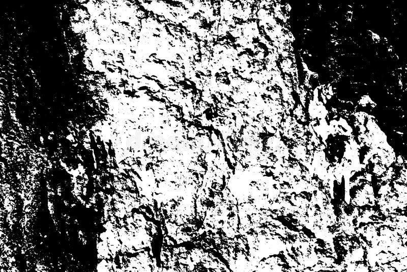 Noir sur la texture superficielle par les agents blanche Surface âgée d'écorce d'arbre Recouvrement affligé pour l'effet de vinta illustration libre de droits