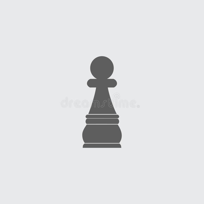 Noircissez l'icône plate de vecteur de gage de chiffre d'échecs illustration libre de droits