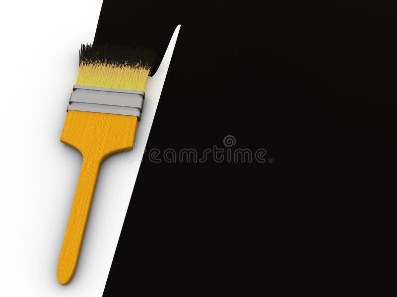 noircissez la peinture illustration stock