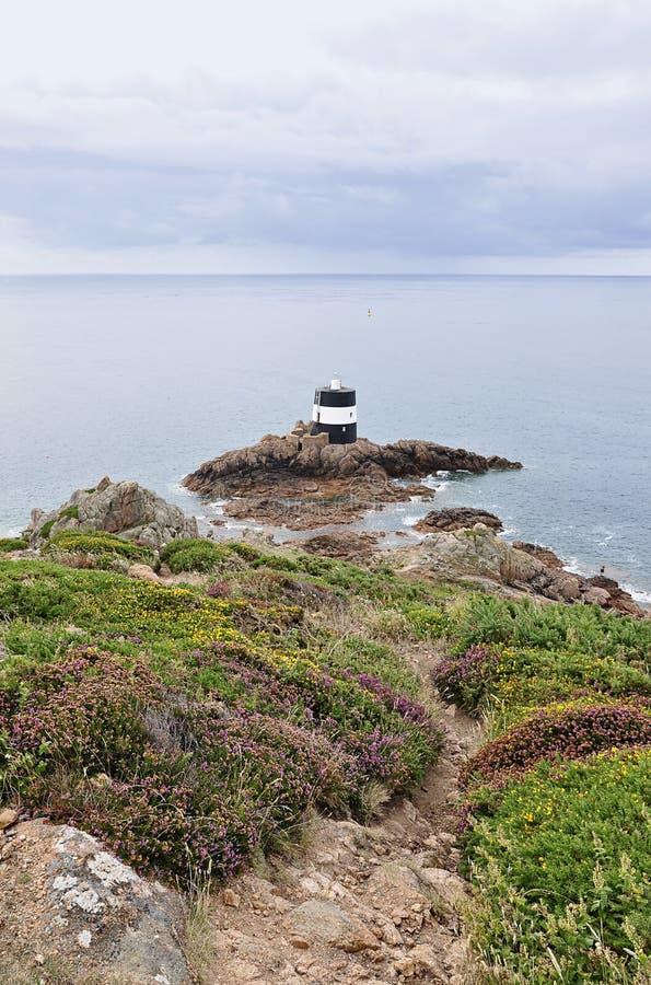 Noirmont点在泽西,海峡群岛 免版税库存图片