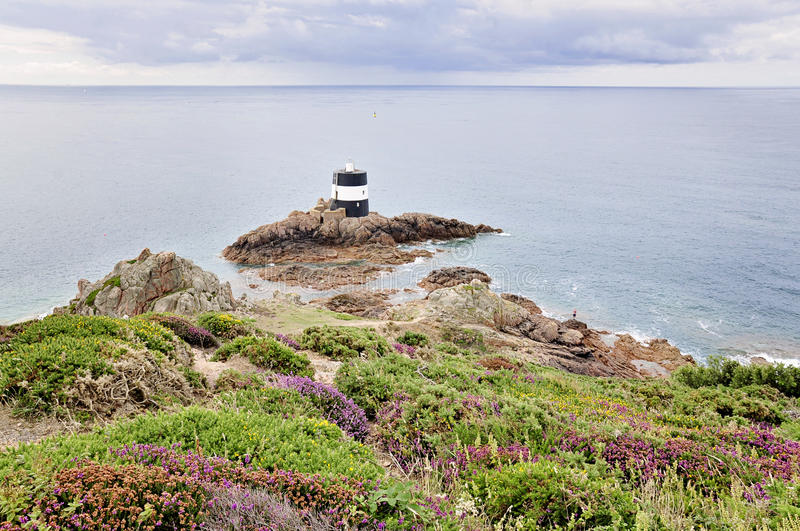Noirmont Point in Jersey,Channel Islands stock photos