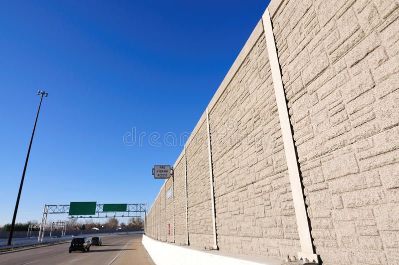 Noise barrier fence stock photo