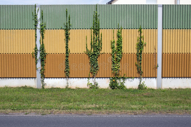 Noise barrier wall. Closeup of a noise barrier wall, background royalty free stock photos
