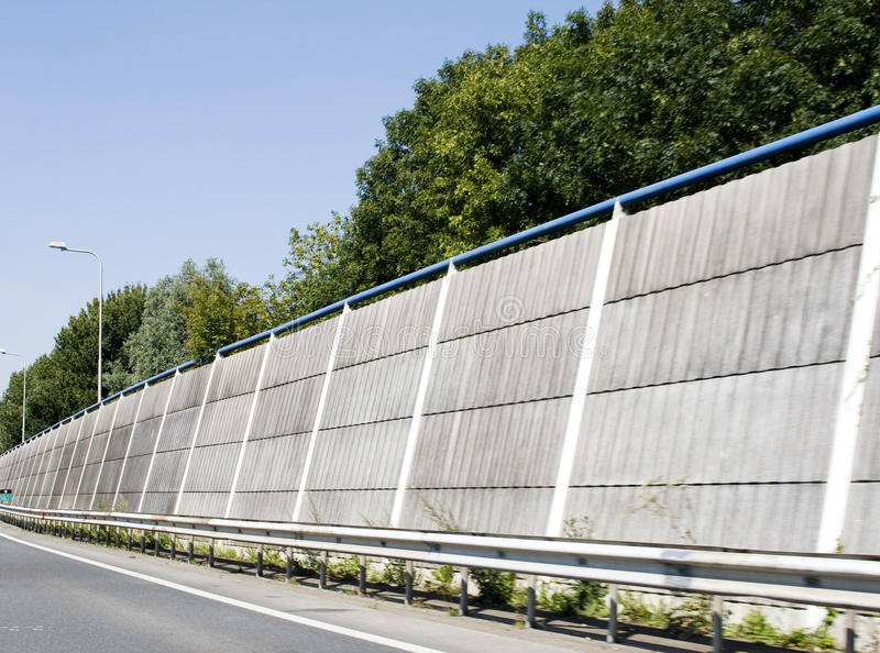 Noise control on higway stock images