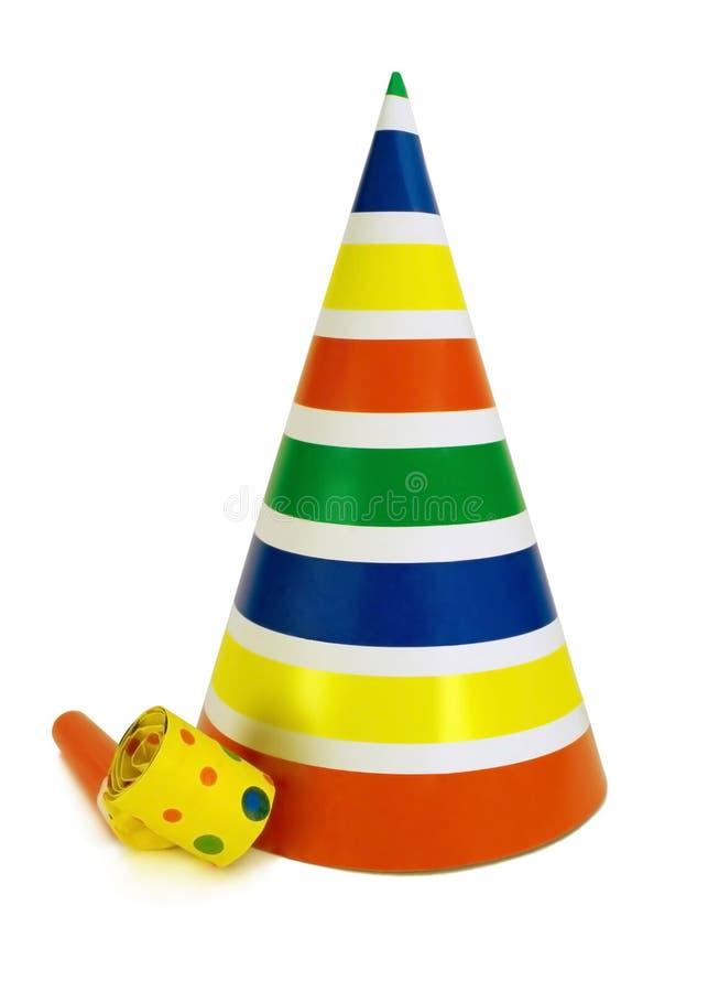 noisemaker nosi kapelusz zdjęcia stock