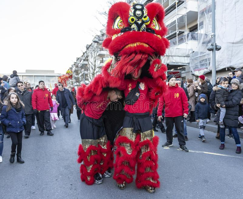 Chinese New Year Parade - The Year of the Dog 2018 stock photography