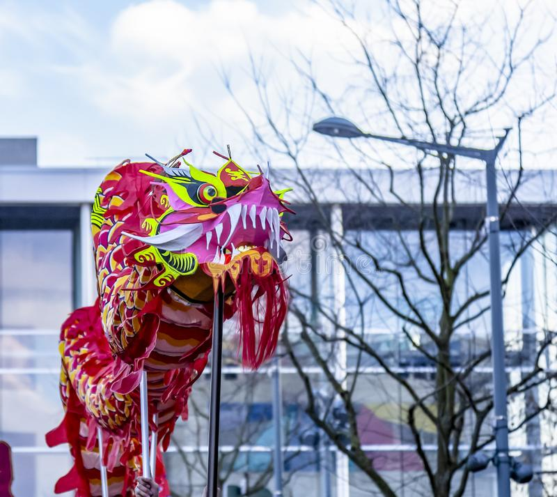 The Chinese Dragon - The Year of the Dog 2018 stock photography