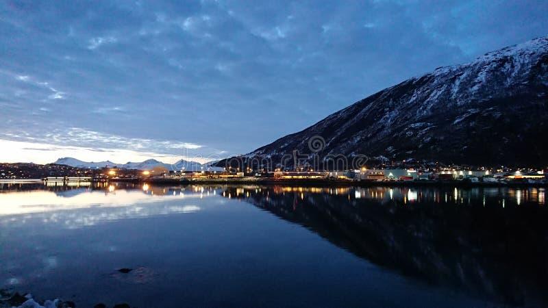 Noite ártica foto de stock