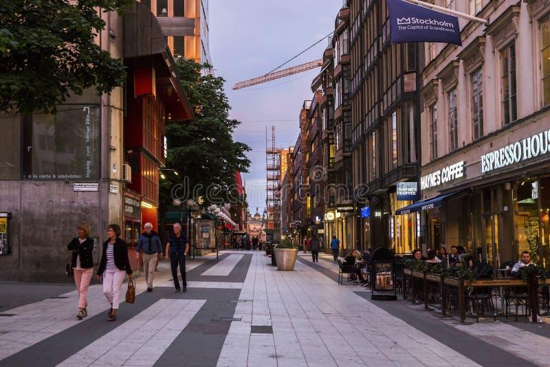 Noite Éstocolmo, Suécia imagem de stock