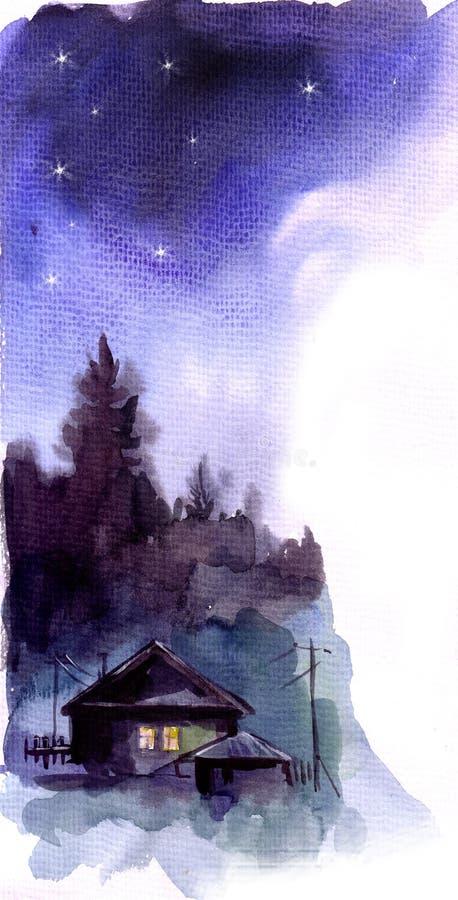 Download Noite ilustração stock. Ilustração de colorido, furry - 12809406