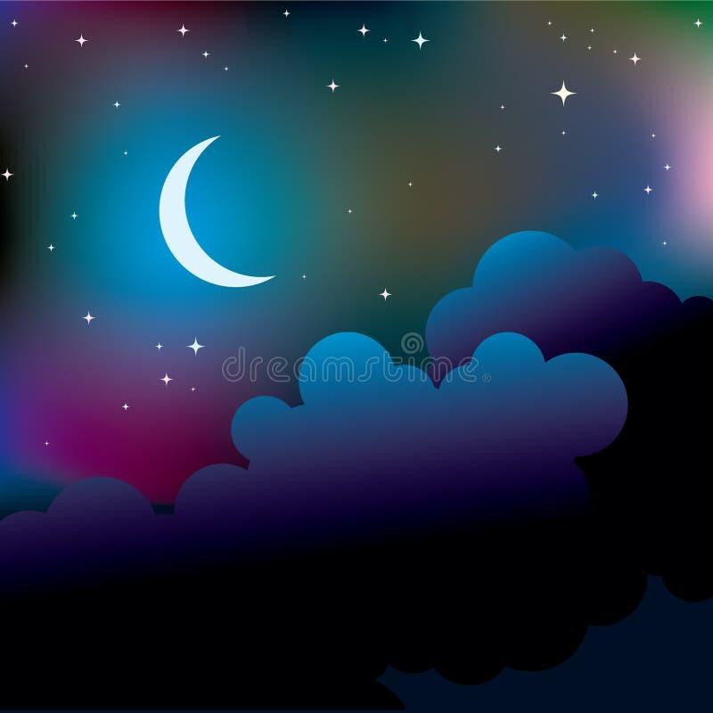 Noite ilustração stock