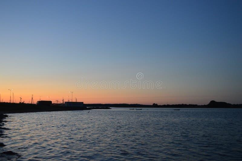Noite af o porto foto de stock royalty free