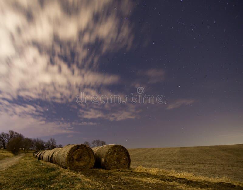 Noite após a colheita imagens de stock