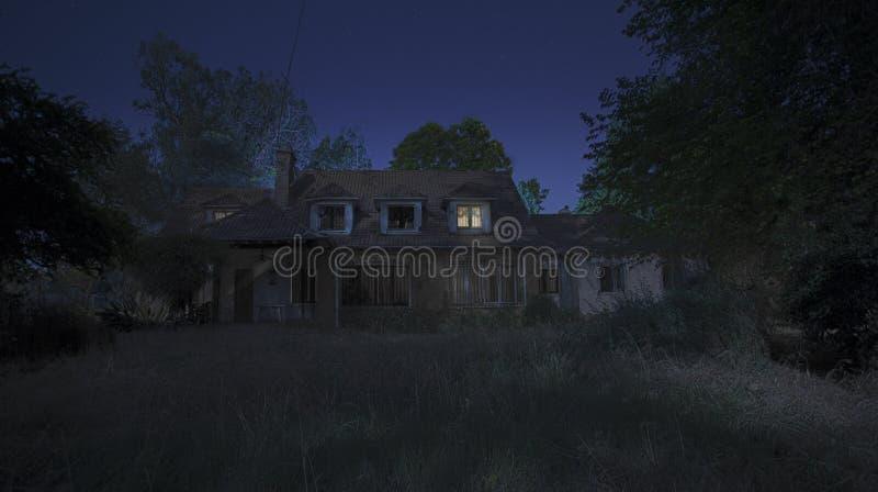Noite assustador fotografia de stock