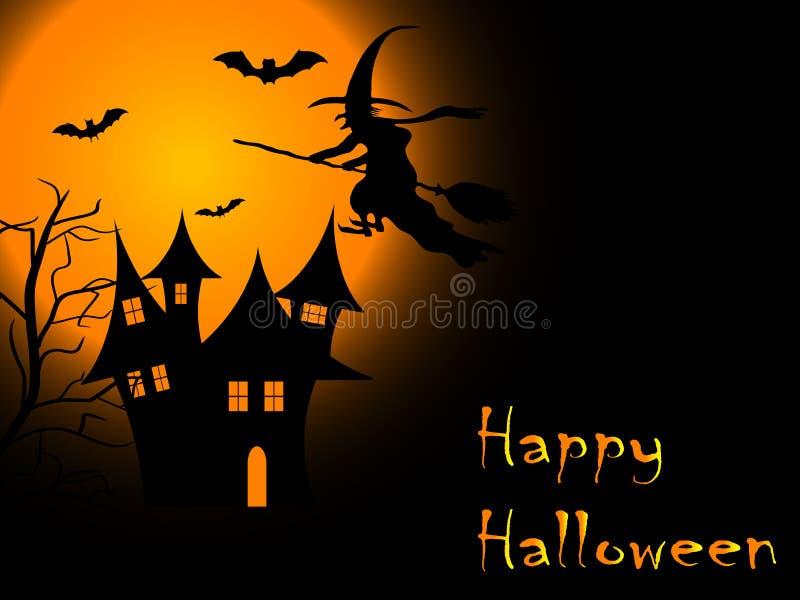 Noite assustador de Halloween ilustração royalty free