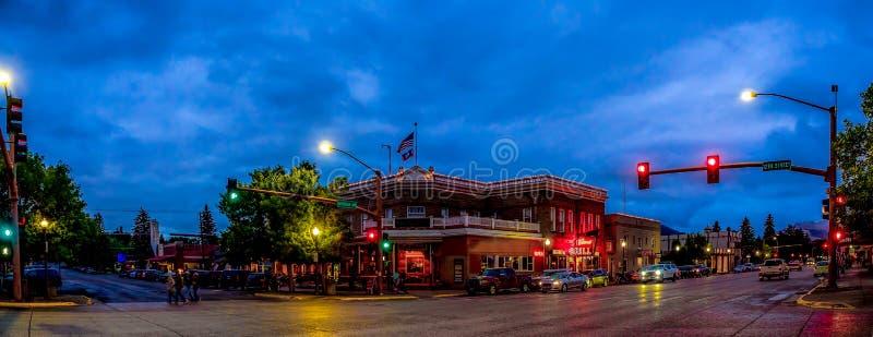 A noite cai em Cody Wyoming fotografia de stock royalty free