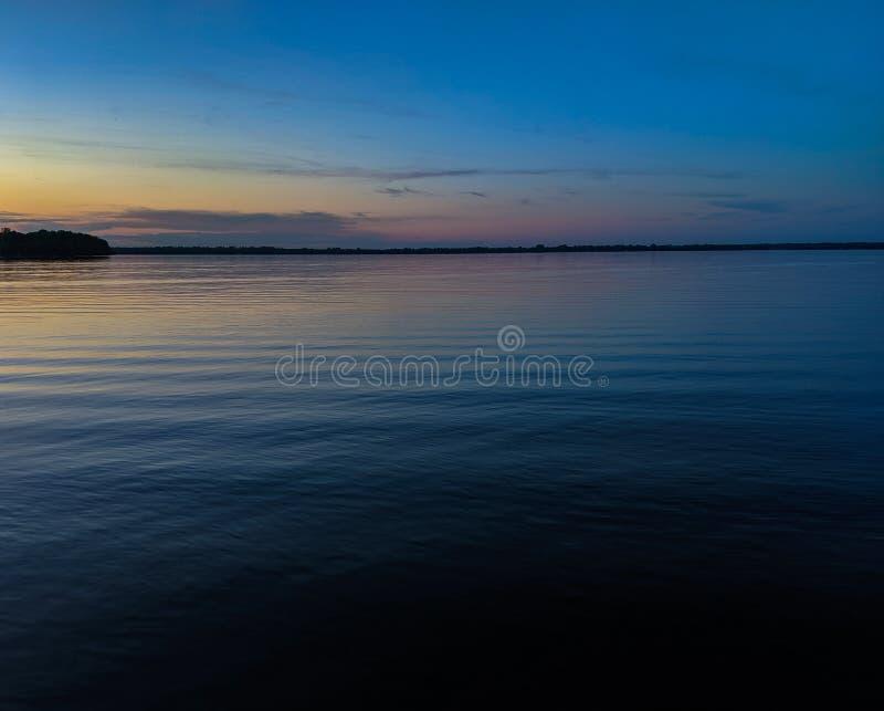 Noite calma de Minnesota foto de stock