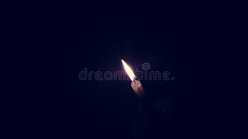 Noite clara do candel fotografia de stock