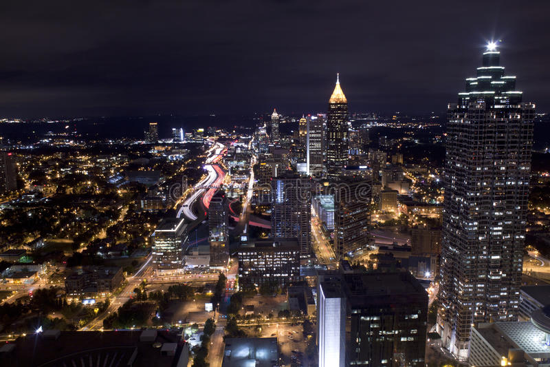 Noite Comute, Atlanta Geórgia fotografia de stock royalty free