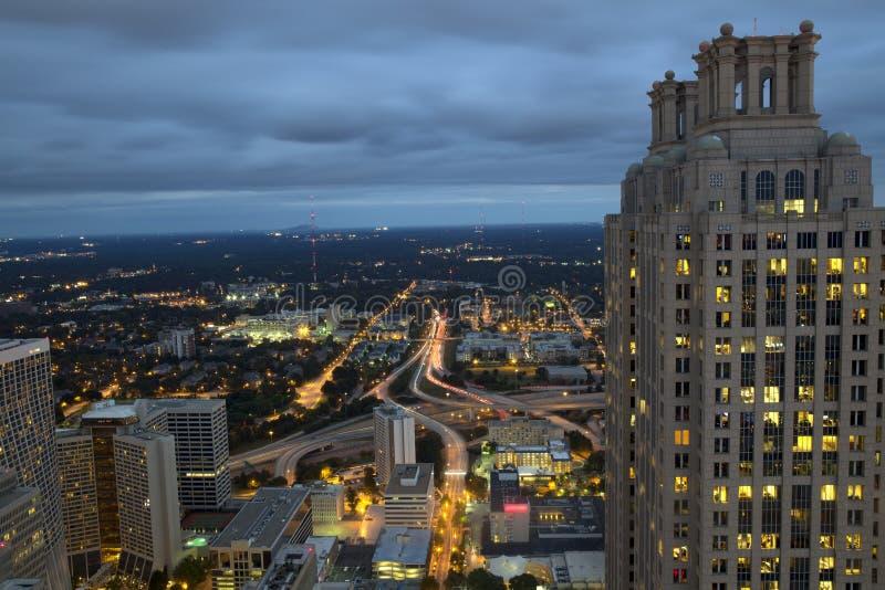 Noite Comute em Atlanta Geórgia imagem de stock royalty free