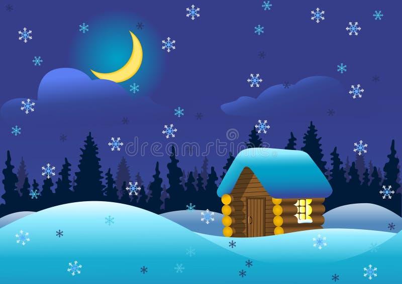 Noite Cosy ilustração royalty free
