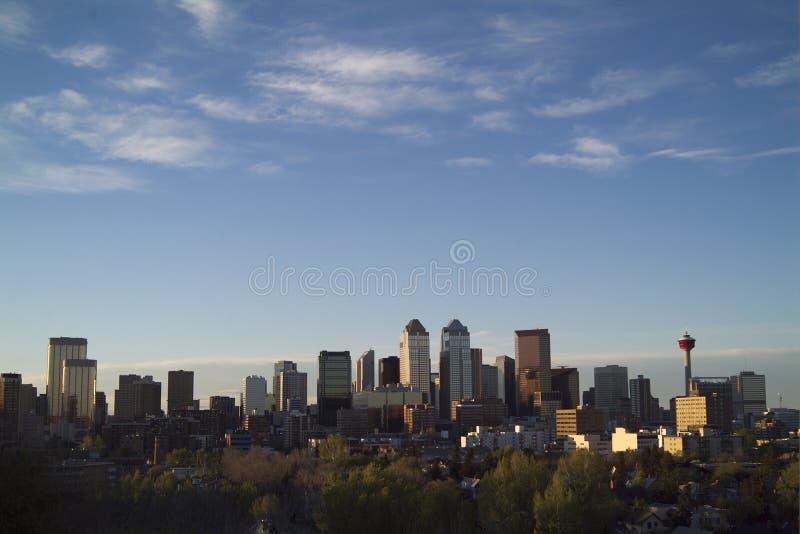 Noite da baixa de Calgary fotos de stock