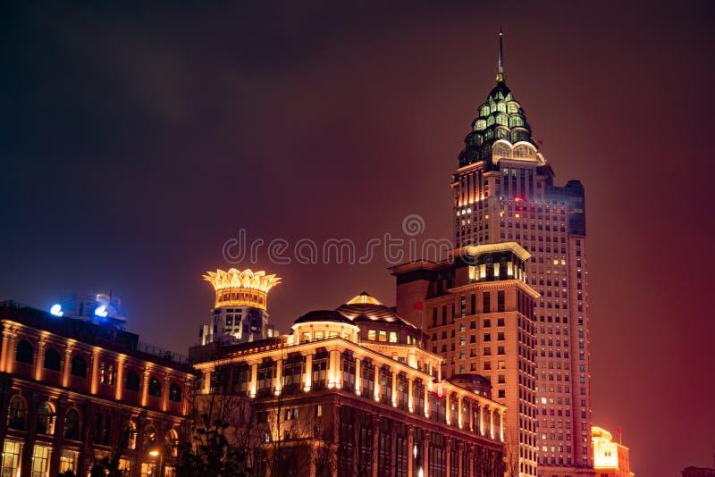 Noite da barreira de Shanghai imagens de stock royalty free