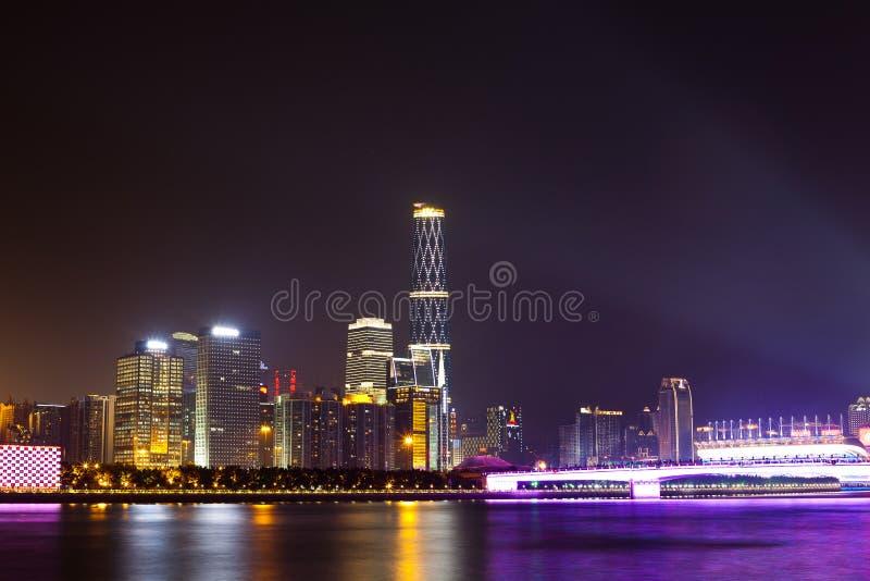 Noite da cidade de Guangzhou fotos de stock