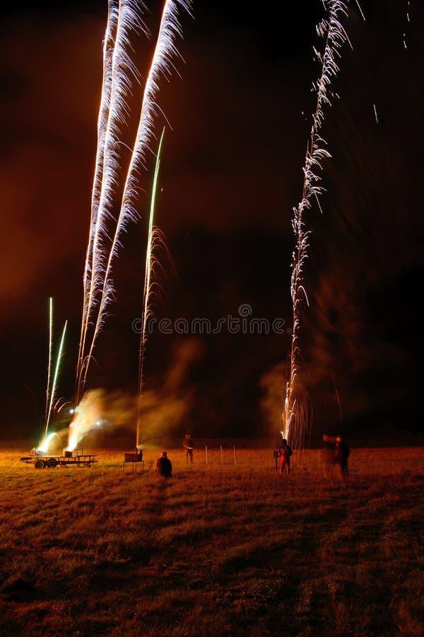 Noite da fogueira fotos de stock